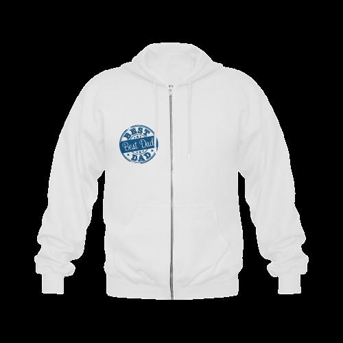 best dad blue father Gildan Full Zip Hooded Sweatshirt (Model H02)