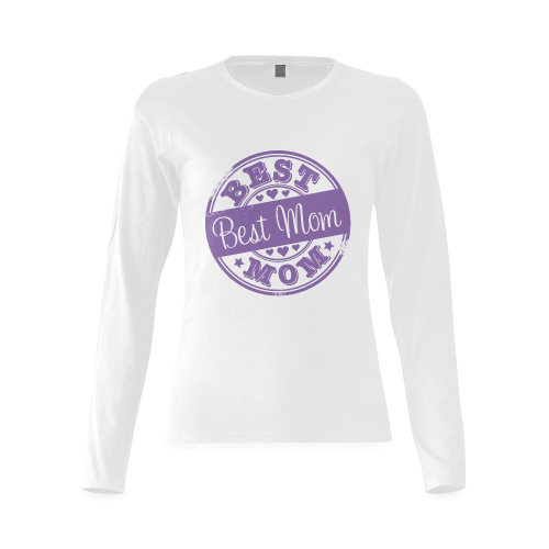 best mom purple mother Sunny Women's T-shirt (long-sleeve)