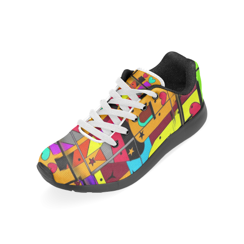Popart for Men by Nico Bielow Men's Running Shoes (Model 020)