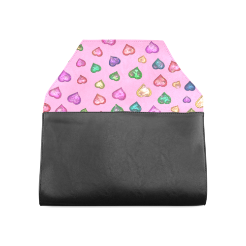 Shimmering hearts Clutch Bag (Model 1630)