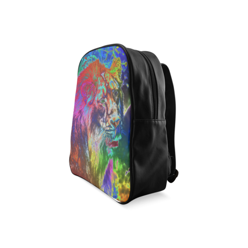 NEON Lion School Backpack/Large (Model 1601)