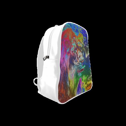 NEON Lion School Backpack/Large (Model 1601)