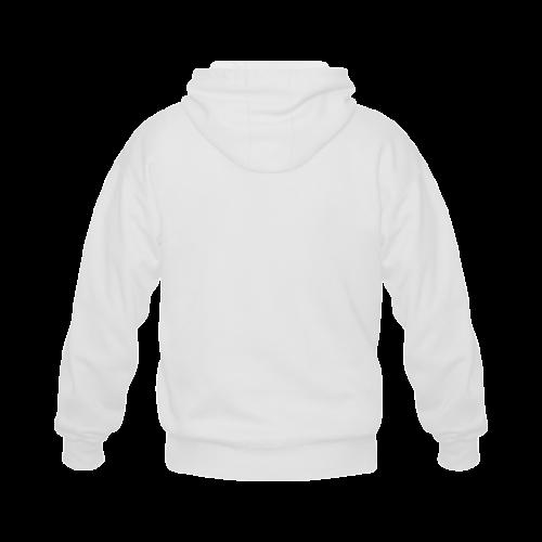 best dad grey father Gildan Full Zip Hooded Sweatshirt (Model H02)