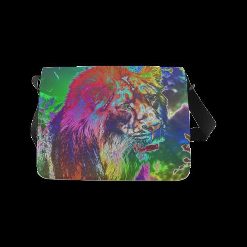 NEON Lion Messenger Bag (Model 1628)