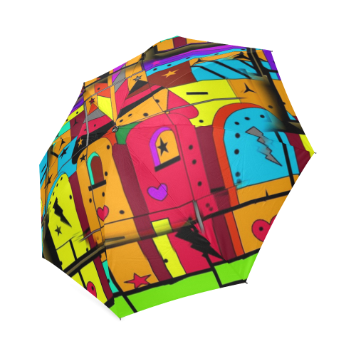 Popart by Nico Bielow Foldable Umbrella