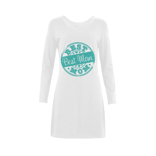 best mom teal mother Demeter Long Sleeve Nightdress (Model D03)