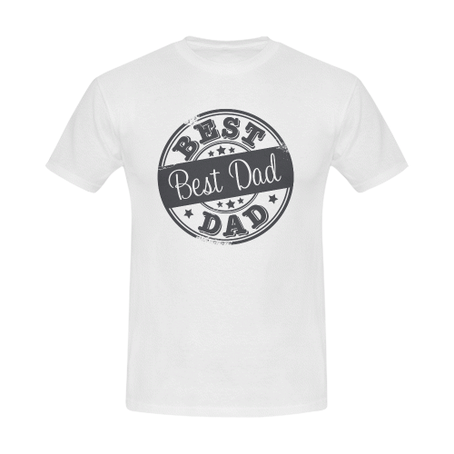 best dad grey father Men's Slim Fit T-shirt (Model T13)