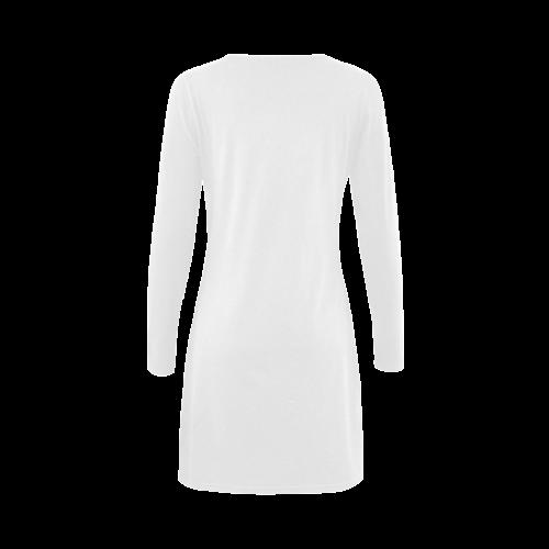 best big sister teal Demeter Long Sleeve Nightdress (Model D03)