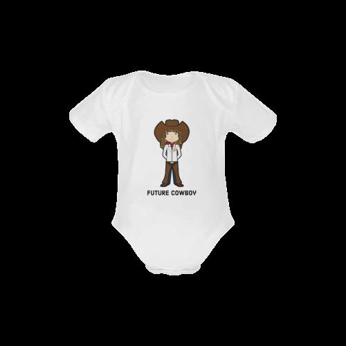 future cowboy - girl sherriff when I grow up Baby Powder Organic Short Sleeve One Piece (Model T28)