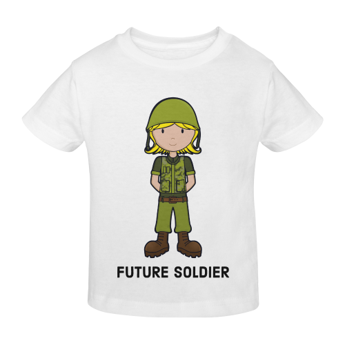 Future Soldier - Army Girl illustration Sunny Youth T-shirt (Model T04)