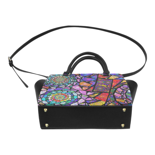 Stained Glass Spirals Classic Shoulder Handbag (Model 1653)