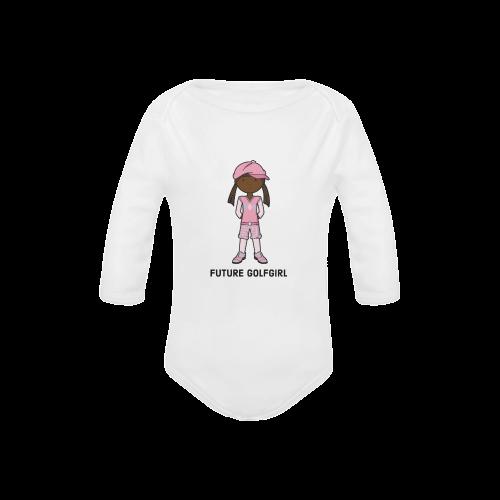 Future Golf Girl - golfer pink Baby Powder Organic Long Sleeve One Piece (Model T27)