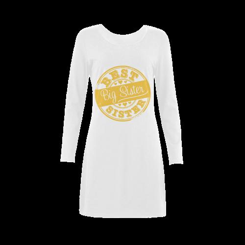 best big sister yellow Demeter Long Sleeve Nightdress (Model D03)