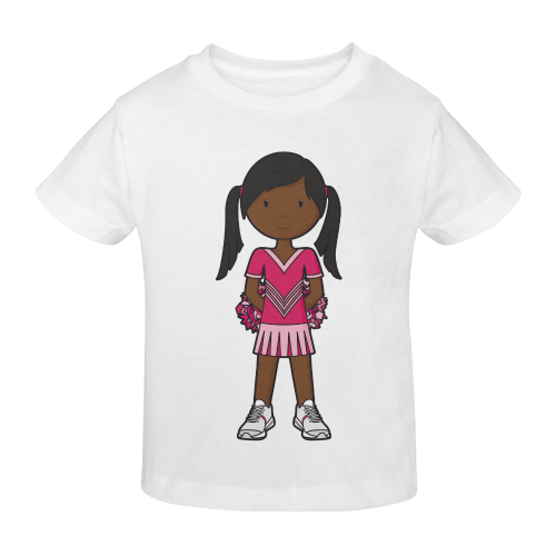 CheerGirl- girl pink cheerleader pompom Sunny Youth T-shirt (Model T04)