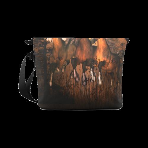 Horses Crossbody Bag (Model 1631)