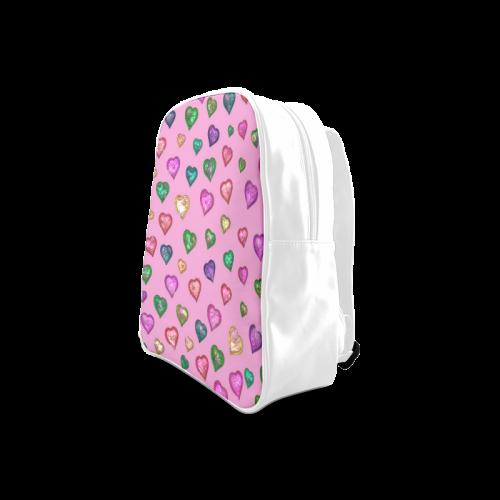 Shimmering hearts School Backpack/Large (Model 1601)