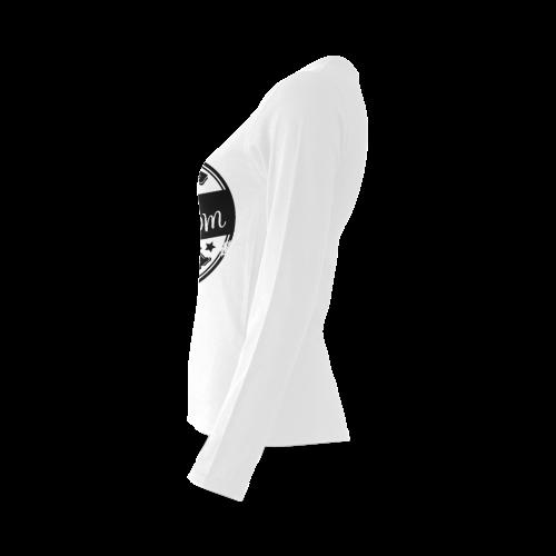 best mom black mother Sunny Women's T-shirt (long-sleeve) (Model T07)