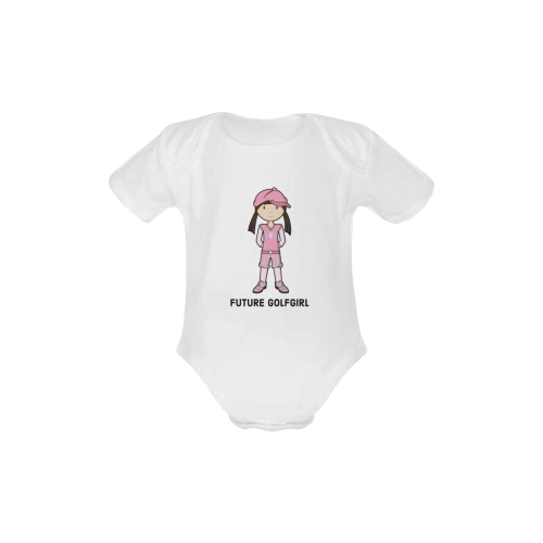 Future  Golf Girl - golfer pink Baby Powder Organic Short Sleeve One Piece (Model T28)