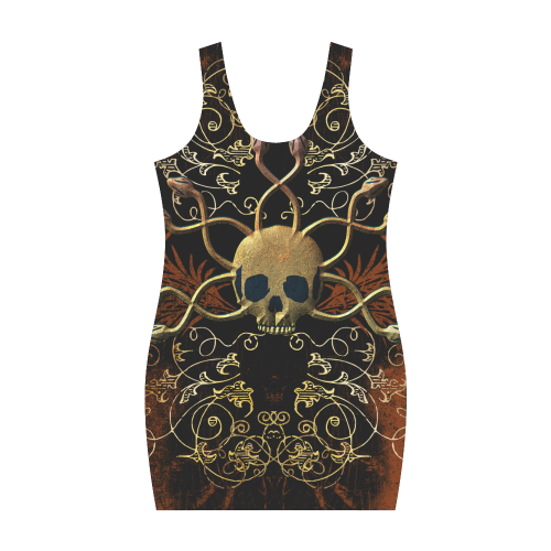 Amazing skull Medea Vest Dress (Model D06)