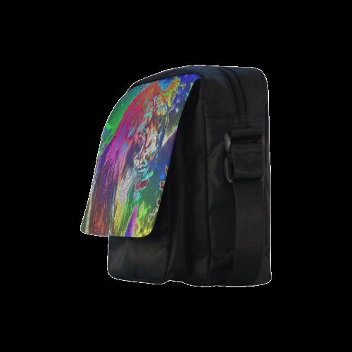 NEON Lion Crossbody Nylon Bags (Model 1633)