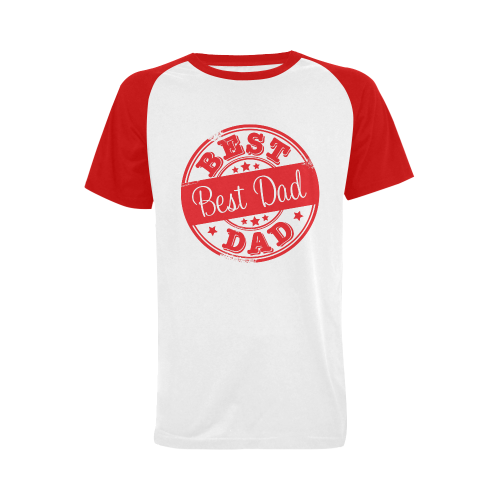 best dad red father Men's Raglan T-shirt (USA Size) (Model T11)