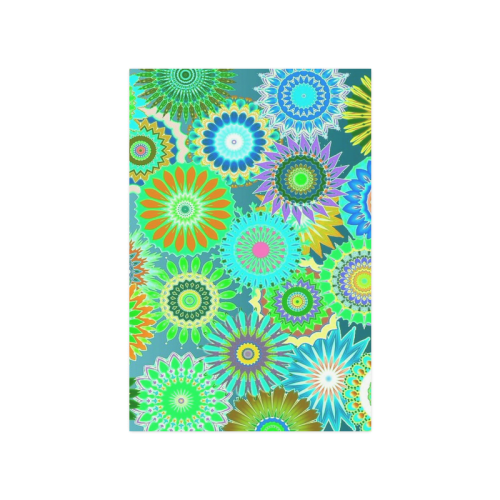 """Funky flowers green Poster 16""""x24"""""""
