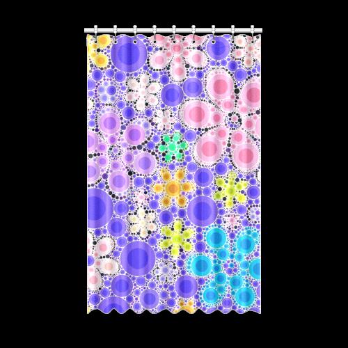 "Bubble Flowers Window Curtain 52"" x 84""(One Piece)"