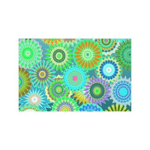 """Funky flowers green Poster 11""""x17"""""""