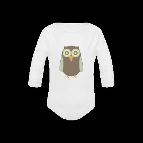 Brown Owl Baby Powder Organic Long Sleeve One Piece (Model T27)