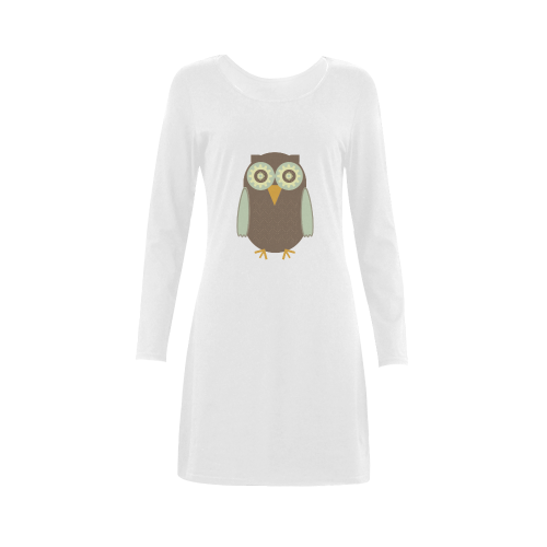 Brown Owl Demeter Long Sleeve Nightdress (Model D03)