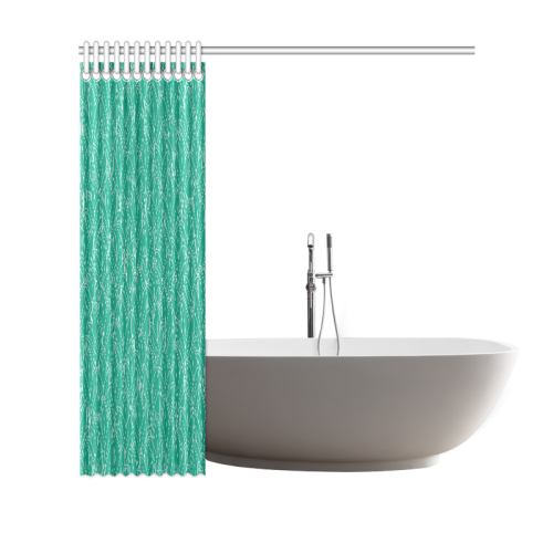 """doodle leaf pattern emerald green & white Shower Curtain 69""""x70"""""""