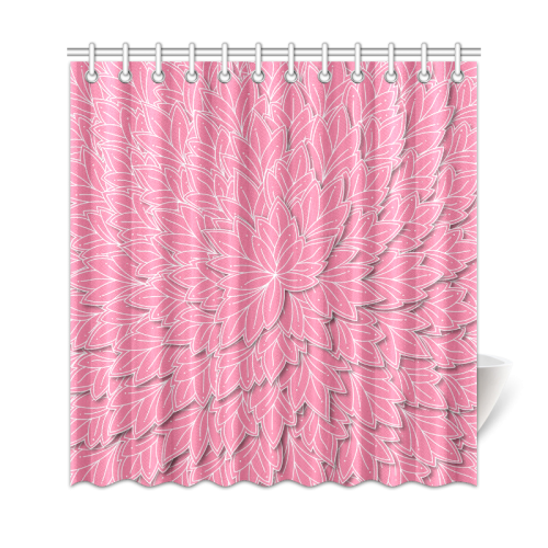 """floating leaf pattern pink white Shower Curtain 69""""x72"""""""