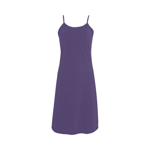 Gentian Violet Color Accent Alcestis Slip Dress (Model D05)