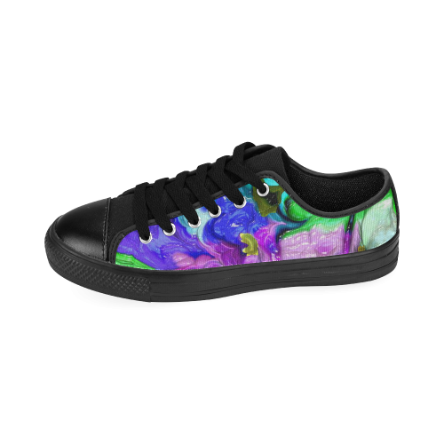 strange abstract 4 Men's Classic Canvas Shoes (Model 018)
