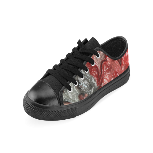 strange abstract 3 Men's Classic Canvas Shoes (Model 018)