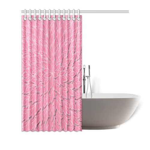 """floating leaf pattern pink white Shower Curtain 72""""x72"""""""