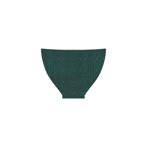 Teal Glitter Stripe Custom Bikini Swimsuit
