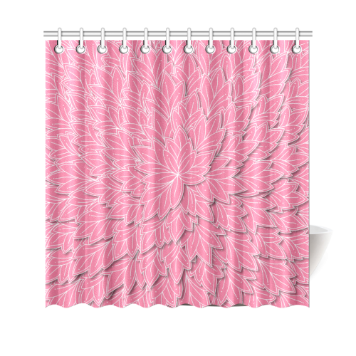floating leaf pink shower curtain sizes zandiepants