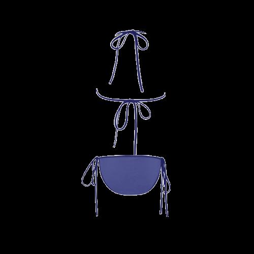 Royal Blue Color Accent Custom Bikini Swimsuit