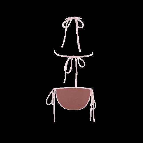 Marsala Color Accent Custom Bikini Swimsuit