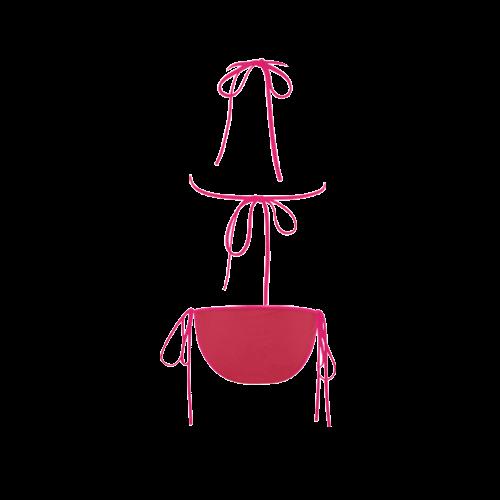 Lollipop Color Accent Custom Bikini Swimsuit