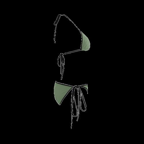 Vineyard Green Color Accent Custom Bikini Swimsuit