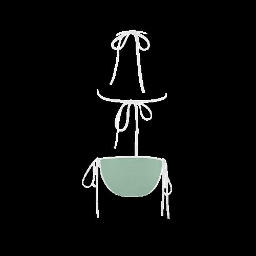 Grayed Jade Color Accent Custom Bikini Swimsuit