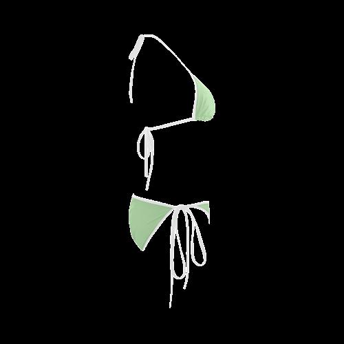 Pistachio Color Accent Custom Bikini Swimsuit