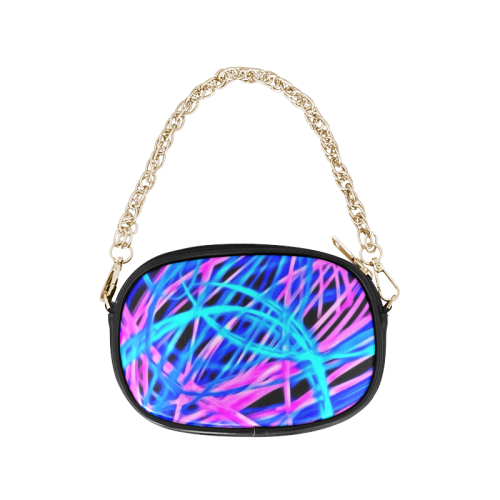 neon light show, blue Chain Purse (Model 1626)