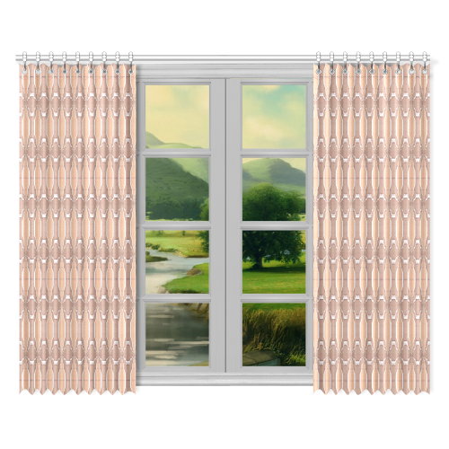 "Beige spring window curtains (52x84) 2 pieces Window Curtain 52""x84""(Two Pieces)"