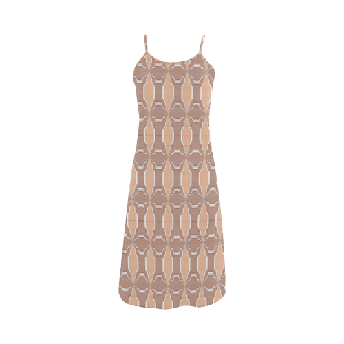 Beige spring -Slip Dress Alcestis Slip Dress (Model D05)