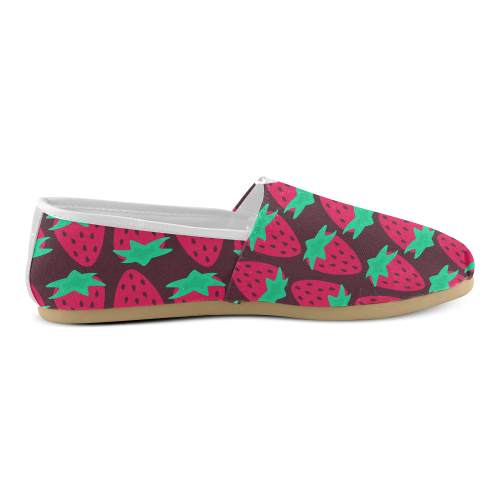 Strawberry Pattern Unisex Casual Shoes (Model 004)