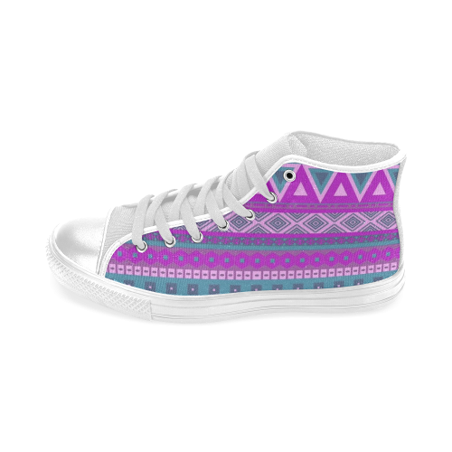 b42ea0ffcede fancy tribal border pattern 08 pink Men s Classic High Top Canvas Shoes (Model  017)