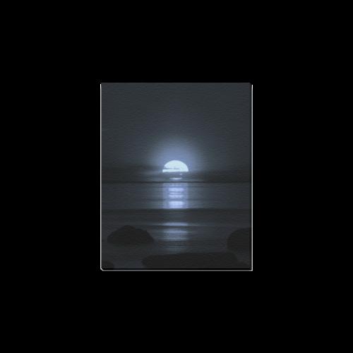 "Moony Sunset Canvas Print 8""x10"""